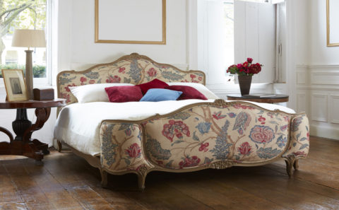 french upholstered bed