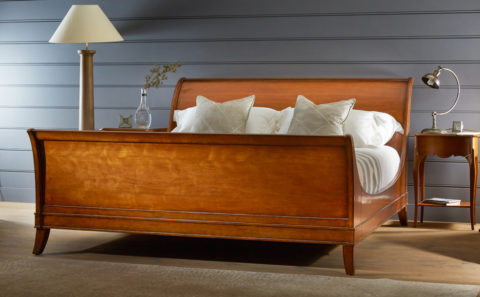 Olivier - Luxury Wooden Lit bateu sleigh bed
