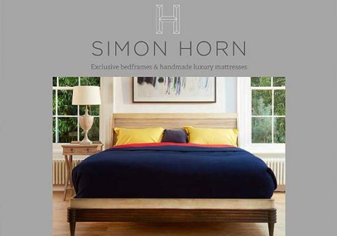 Front cover of the downloadable Luxury Bedding Brochure from Simon Horn