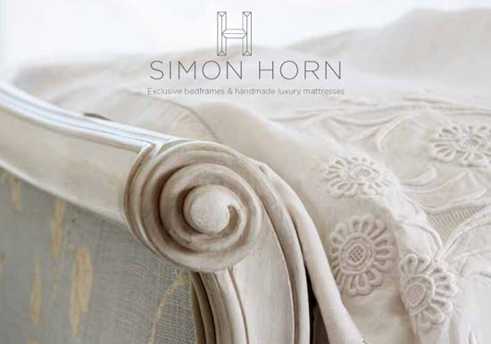 Front Cover Simon Horn Luxury Bedding Brochure