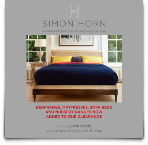Front Cover of Simon Horn Luxury Bedding Brochure