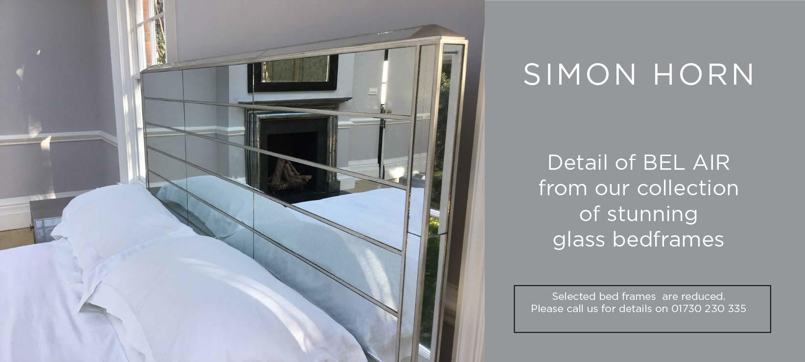Stunning Bel Air Glass Bedframe From Simon Horn