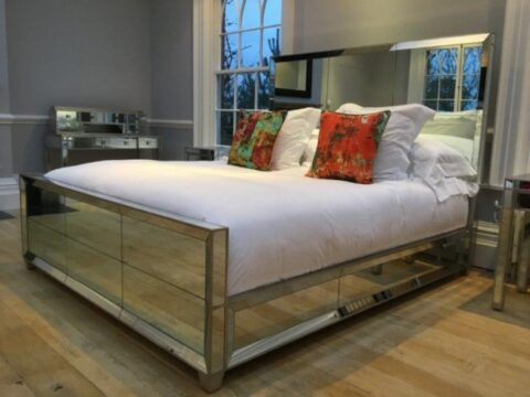 Simon Horn Lamour Mirror Bed Modern