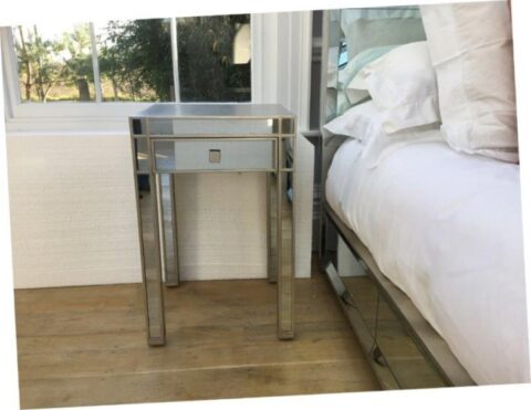Simon Horn Lamour Mirrored Bedside Table