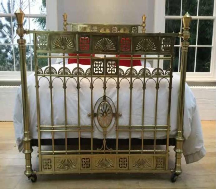 Simon Horn Antique Victorian Brass Bedstead