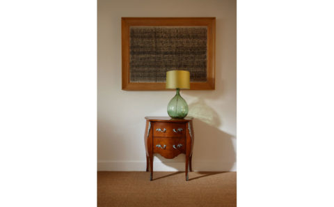 Bombe chest bedside table