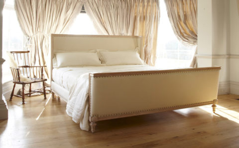 Contemporary Oak Wooden Bed