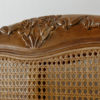French Wooden Caned Bed