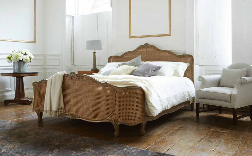Caned Timber Bed