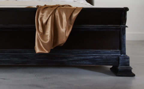 Black French Wooden Bed
