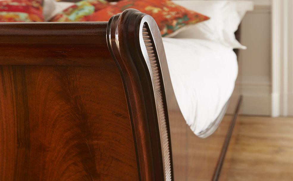 Wooden Sleigh Bed