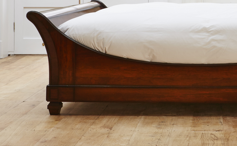 Wooden Sleigh Bed