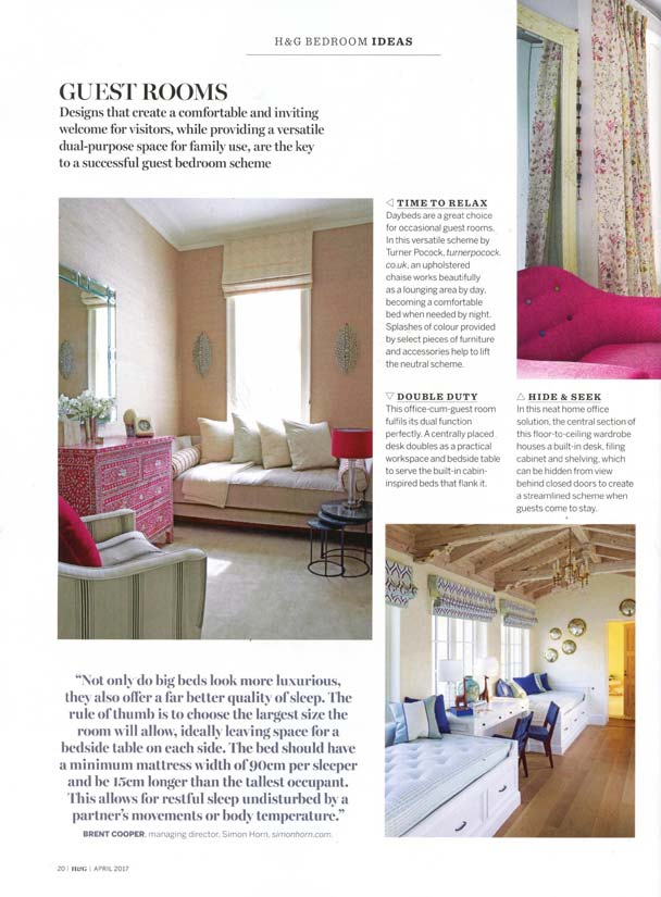 Homes & Gardens Dream Bedrooms Supplement April 2017 2